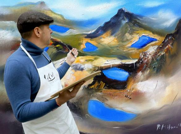 Pavel Mitkov will paint the Seven Rila Lakes