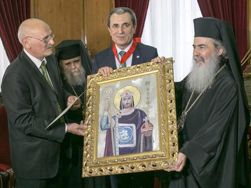 Special gift for Patriarch Theophilos III