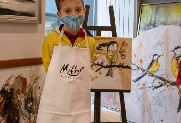 Children painted with the artist Pavel Mitkov